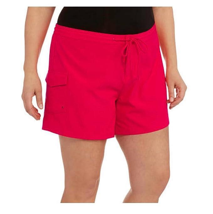 92d2e336ad Catalina Women's Plus-Size Swim Cover-up Boardshort (2X Plus, Coral ...