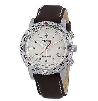 Timex Herren-Armbanduhr Intelligent Quartz Analog Quarz Leder T2P287