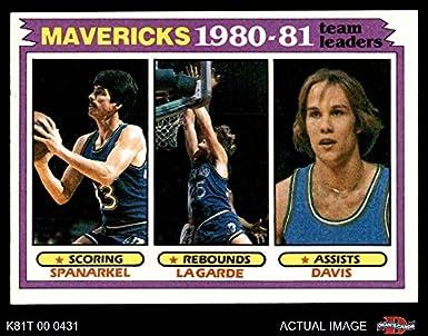 reputable site 7b805 97b43 Amazon.com: 1981 Topps # 48 Mavericks Leaders Jim Spanarkel ...