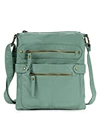 Scarleton Casual Double Zipper Crossbody Bag H1820