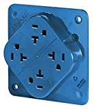20A Commercial Environments Receptacle, Blue; Tamper Resistant: No
