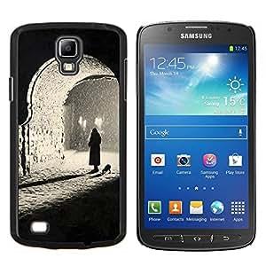 LECELL--Funda protectora / Cubierta / Piel For Samsung Galaxy S4 Active i9295 -- Negro Blanco Oscuro Foto Profundo --