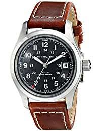 Men's HML-H70455533 Khaki Field Black Dial Watch