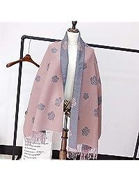 YUANZ Home Camellia Scarf Shawl Fashion Thick Scarf Warm Scarf (Color : Grey, Size : 180 * 70)