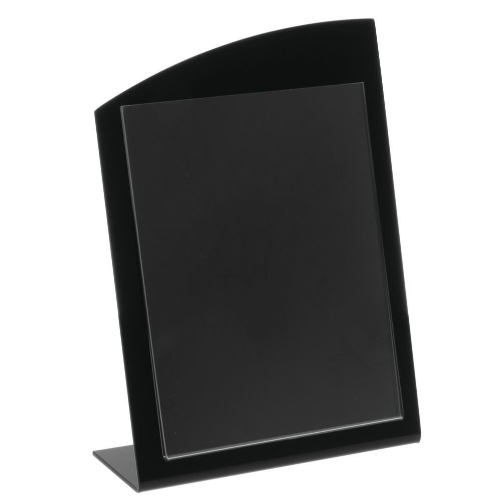 Countertop Sign Holder with Wave Top Design Black Acrylic - 8 1/2''L x 11''H by HUBERT