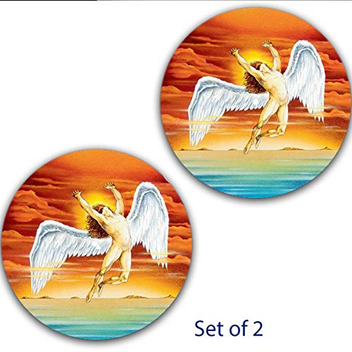 Set of Two Swan Song Record Label Led Zeppelin Bad Company DJ Slipmat 12 inch LP Scratch Pad Slip Mat Audiophile Vinyl - Label Lovers