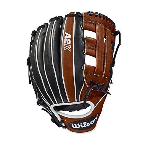 Wilson 2018 A2K 1721 Infield Right Hand Gloves, Copper/Black/White, 12'