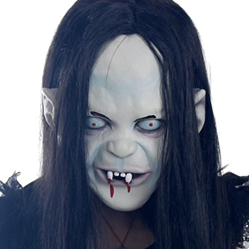 Halloween Horror Witch Mask Grudge Ghost (Grudge Costume Dress)