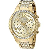 GUESS Women's Stainless Steel Crystal...