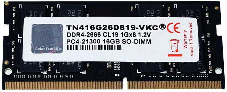 Notebook Ram Module V-Color 8GB TN48G26S819-VKC Laptop Memory Module Upgrade DDR4 Non ECC 2666MHz PC4-21300 CL19 1.2V SO-DIMM 1 x 8GB
