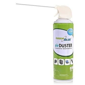 GreenBlue GB400 Air Duster Limpiador de aire comprimido en spray, 400 ml: Amazon.es: Oficina y papelería