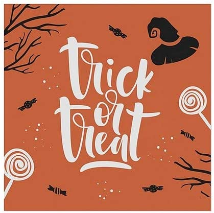 5-Pack CGSignLab 24x24 Halloween Decor Trick or Treat Festive Window Cling
