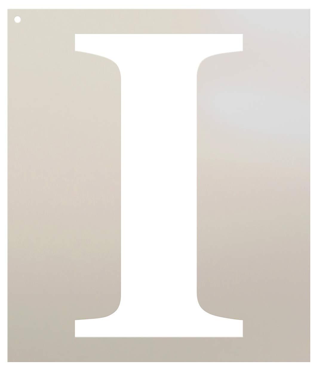 StudioR12 クラシックセリフレターステンシル - I - 8インチ - STCL1722_1 B077G81LBS
