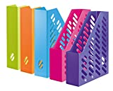 HAN 1601-20, KLASSIK magazine file. Classic, contemporary design, functional, high-quality and trendy, pack of ten, Trend Colours sorted by colours