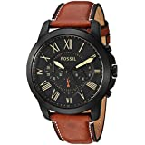 Fossil Mens FS5241 Grant Chronograph Luggage Leather Watch