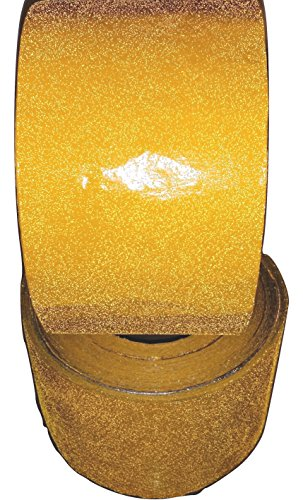 - Engineer Grade Foil Yellow Reflective Pavement Marking Tape 4 inch x 150 foot (Case of 2 Rolls)