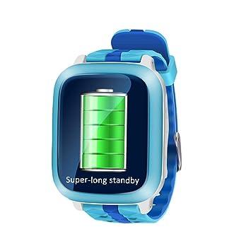 Mengonee Reloj Inteligente DS-18 Impermeable para niños Adolescentes GPS Reloj Inteligente Llamada Mensaje de Voz Podómetro Tiempo de Espera Largo: ...