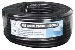 Philex 27600F25 - Cable coaxial (5 metros), negro