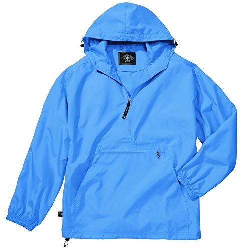 Pullover Rain Jacket - Women's Ultra Light Pack-N-Go Pullover - Columbia Blue, Medium