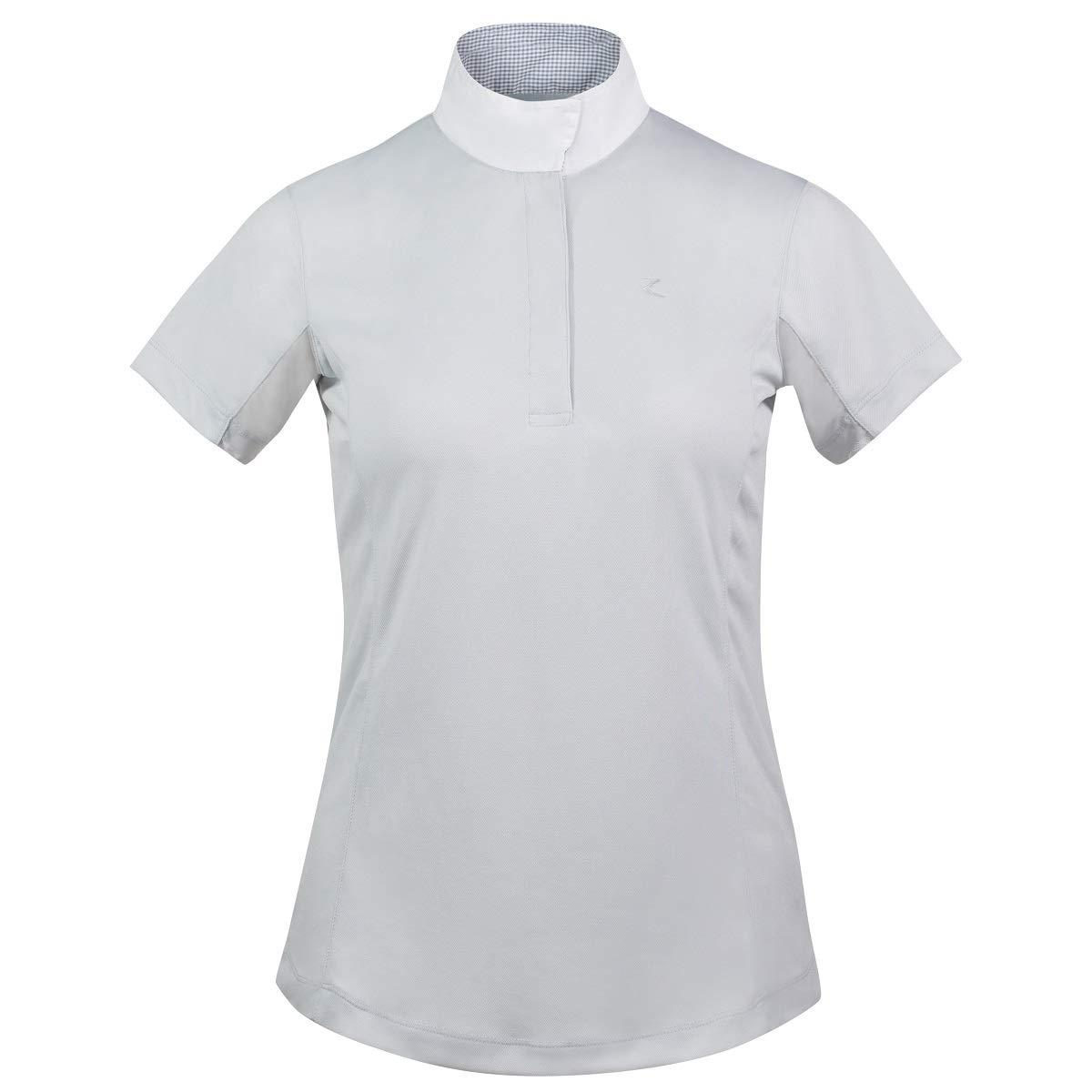 Finn-Tack Horze Blaire ポーラーグレー レディース 機能的 半袖 襟付きショーシャツ (US 12/EU 42)   B07MTQCPXD