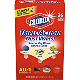 Clorox Triple Action Dust Wipes, ExtramLarge - 26 Count
