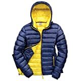 Result Urban Womens/Ladies Snowbird Hooded Jacket (M) (Navy/Yellow)