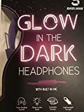 Bass Jaxx Glow in the Dark Headphones w/Built in Mic PURPLE