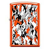 Neon Orange Camouflage Custom Zippo Windproof Collectible Lighter. Made in USA Limited Edition & Rare
