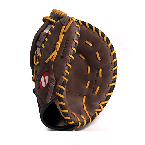 Brown BARNETT GL-125 Competition baseball glove genuine leather outfield 12.5
