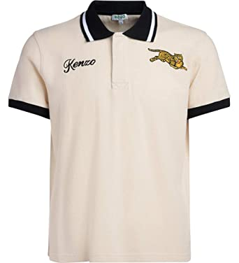 5f3207f3 Kenzo Men's Polo Jumping Tiger Beige at Amazon Men's Clothing store: