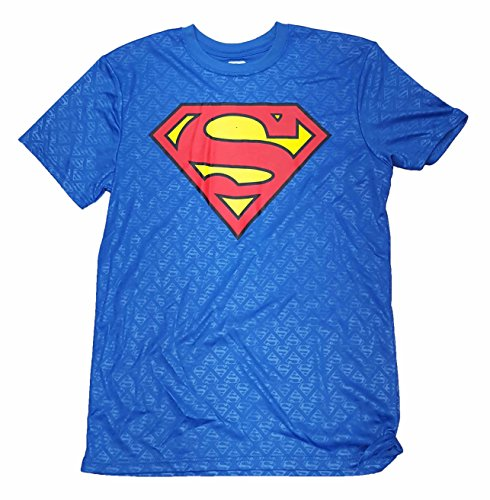 DC Comics Superman Vintage Logo Active Graphic T-Shirt - 2XL (Super Logo Graphic Tee)