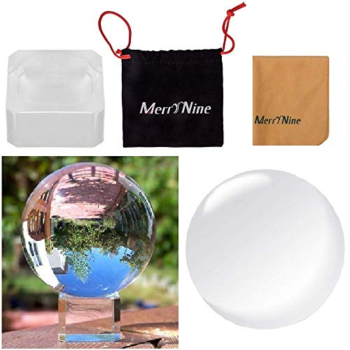 Crystal Meditation Ball Globe Suit with Free Stand and Pouch, 60mm, Clear by MerryNine