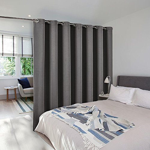 Room Divider Curtain Screen Partitions   NICETOWN Thermal Insulated  Blackout Patio Door Curtain Panel, Sliding Door Curtains (Single Panel,  8.3ft Wide By ...