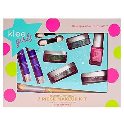 Klee Girls Natural Mineral Makeup 7-Piece Kit, Best Starter Cosmetics Set for Tweens and Teens