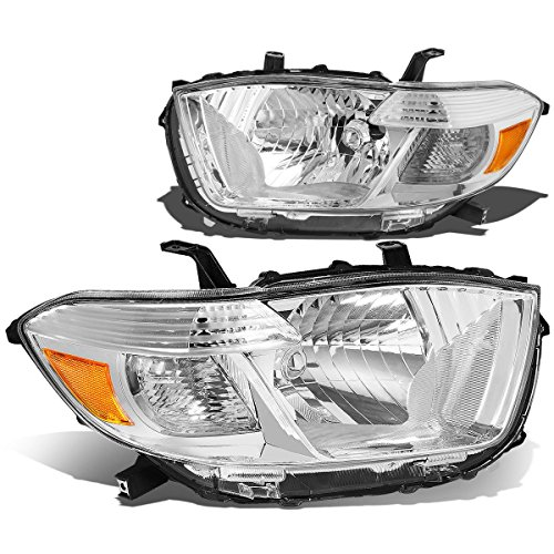 - DNA Motoring HL-OH-THI08-CH-AM Headlight Assembly (Driver and Passenger Side)