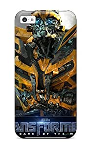 New Premium Flip Case Cover Bumblebee Transformers Dark Of The Moon Skin Case For Iphone 5c