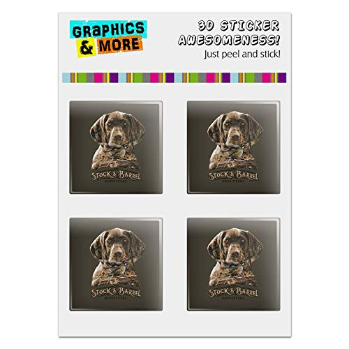 GRAPHICS & MORE Stock and Barrel Outfitters Pointer Dog Quail Hunting Computer Case Modding Badge Emblem Resin-Topped 1