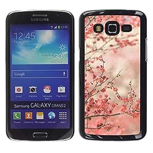 LECELL--Funda protectora / Cubierta / Piel For Samsung Galaxy Grand 2 SM-G7102 SM-G7105 -- Cherry Blossoms Pink Japan Tokyo --