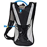 Hydration Backpack 2L Bladder with Flexible Drinking Tube, Lightweight for Running, Hiking, Cycling, Hunting, Fishing, Survival (Black) Review