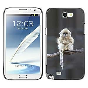 TopCaseStore / la caja del caucho duro de la cubierta de protección de la piel - Japanese Snow Monkey Ape Cute - Samsung Galaxy Note 2 N7100