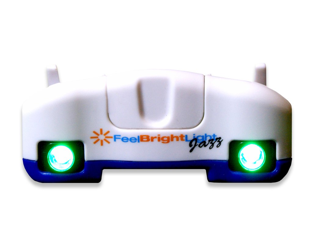 Feel Bright Light Jazz Portable Light Therapy Device with Replaceable Batteries (Blue)