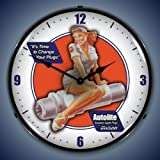 Autolite Spark Plug Pin Up Lighted Wall Clock