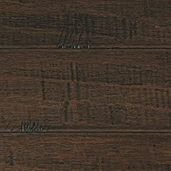 Handscraped Strand Woven Wellington 3/8 in. T. x 5-1/8 in. W. x 36 in. L. Click Bamboo Flooring (19.20 sq. ft. / case)