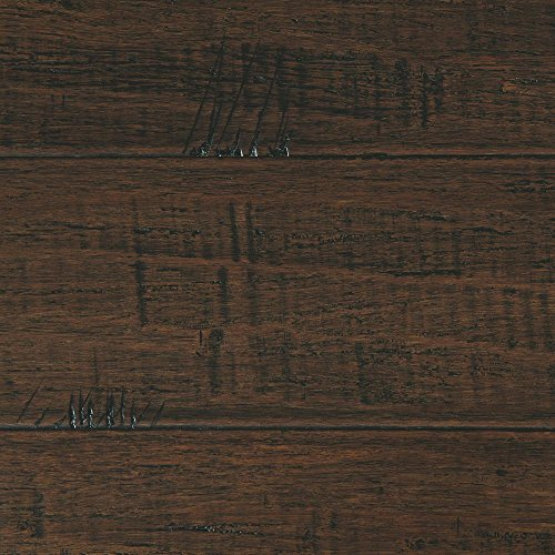 Handscraped Strand Woven Wellington 3/8 in. T. x 5-1/8 in. W. x 36 in. L. Click Bamboo Flooring (19.20 sq. ft. / case) ()