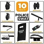 Ultimate tout-en-un ensemble de jeu de rôle policier pour les enfants - Comprend SWAT Shield, ceinture réglable, lampe… 7