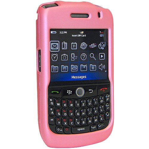 Amzer Rubberized Snap-On Case for BlackBerry Curve 8900 - Bubble Gum Pink (Rubberized Blackberry Curve)