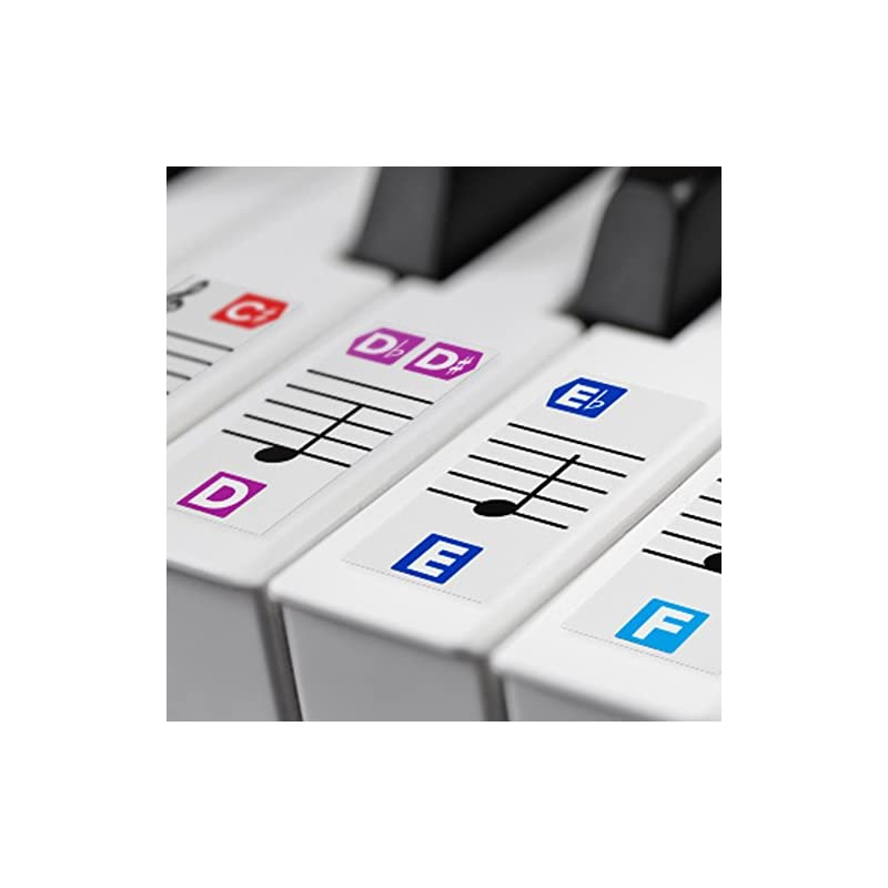 Color Piano Stickers for Keys – Removabl