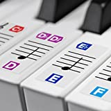 Color Piano Stickers for Keys ? Removable w/ Double Layer Coating for 49 / 61 / 76 / 88 Keyboards