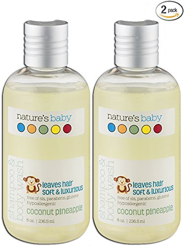 Nature's Baby Organics Shampoo & Body Wash, Coconut Pineapple, 8 oz | Babies, Kids, & Adults! Natural, Moisturizing, Soft, Gentle, Rich, Hypoallergenic | No Chemicals, Parabens, SLS, - Kids Vt Day