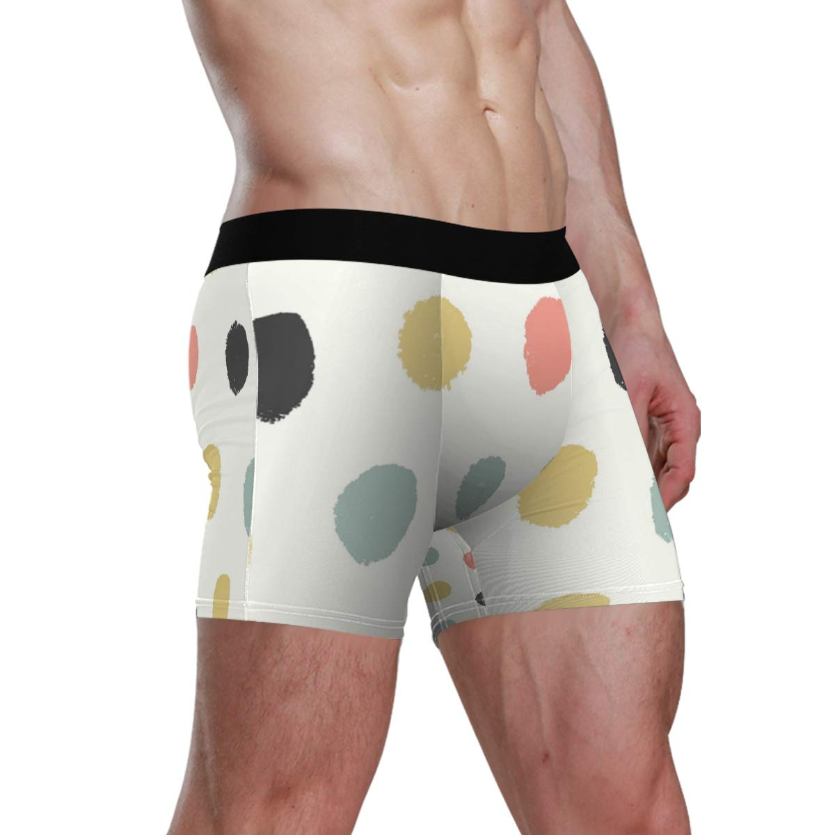 Watercolor Spots Vipsk Seamless Stretch Mens Polyester Boxer Briefs Underwear 1-Pack Set